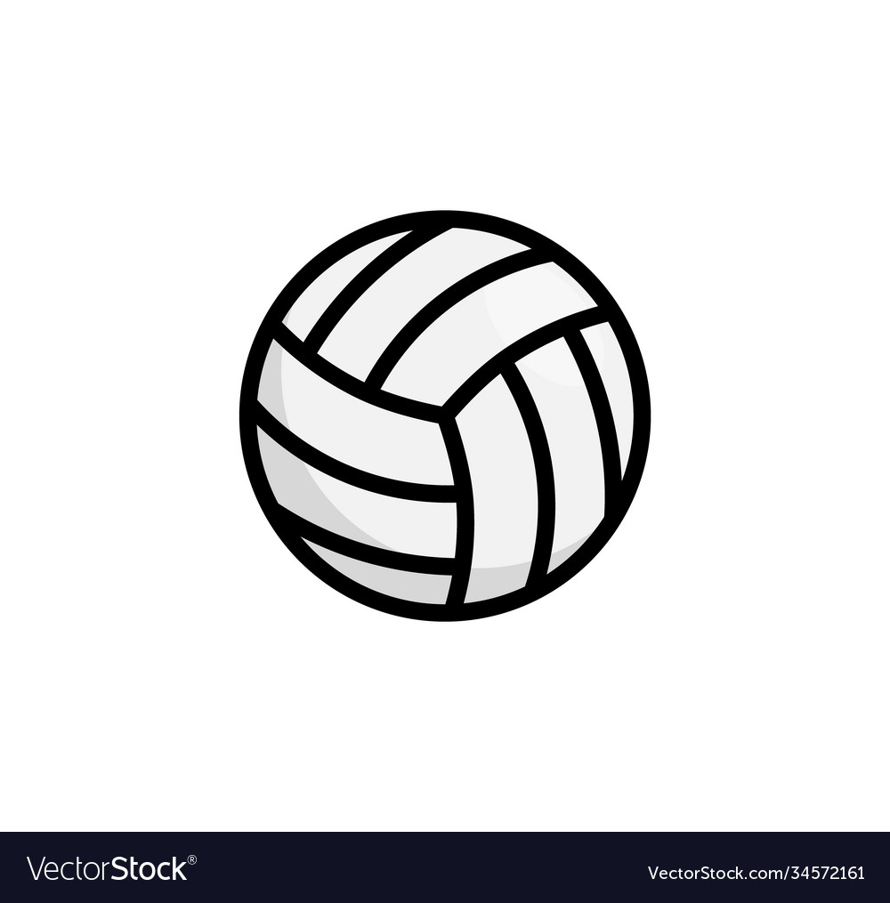Volley ball logo icon vollyeball simple