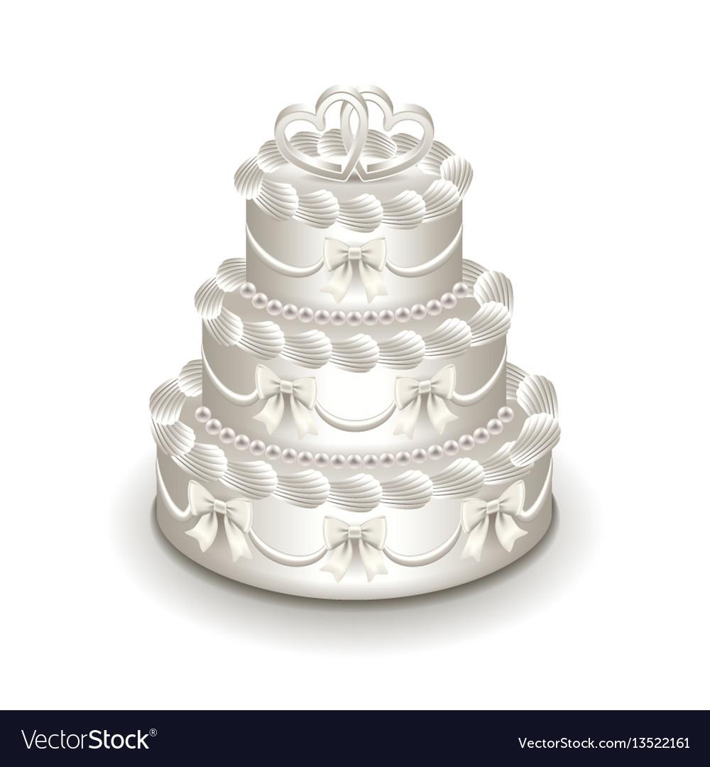 Wedding cake isolated on white