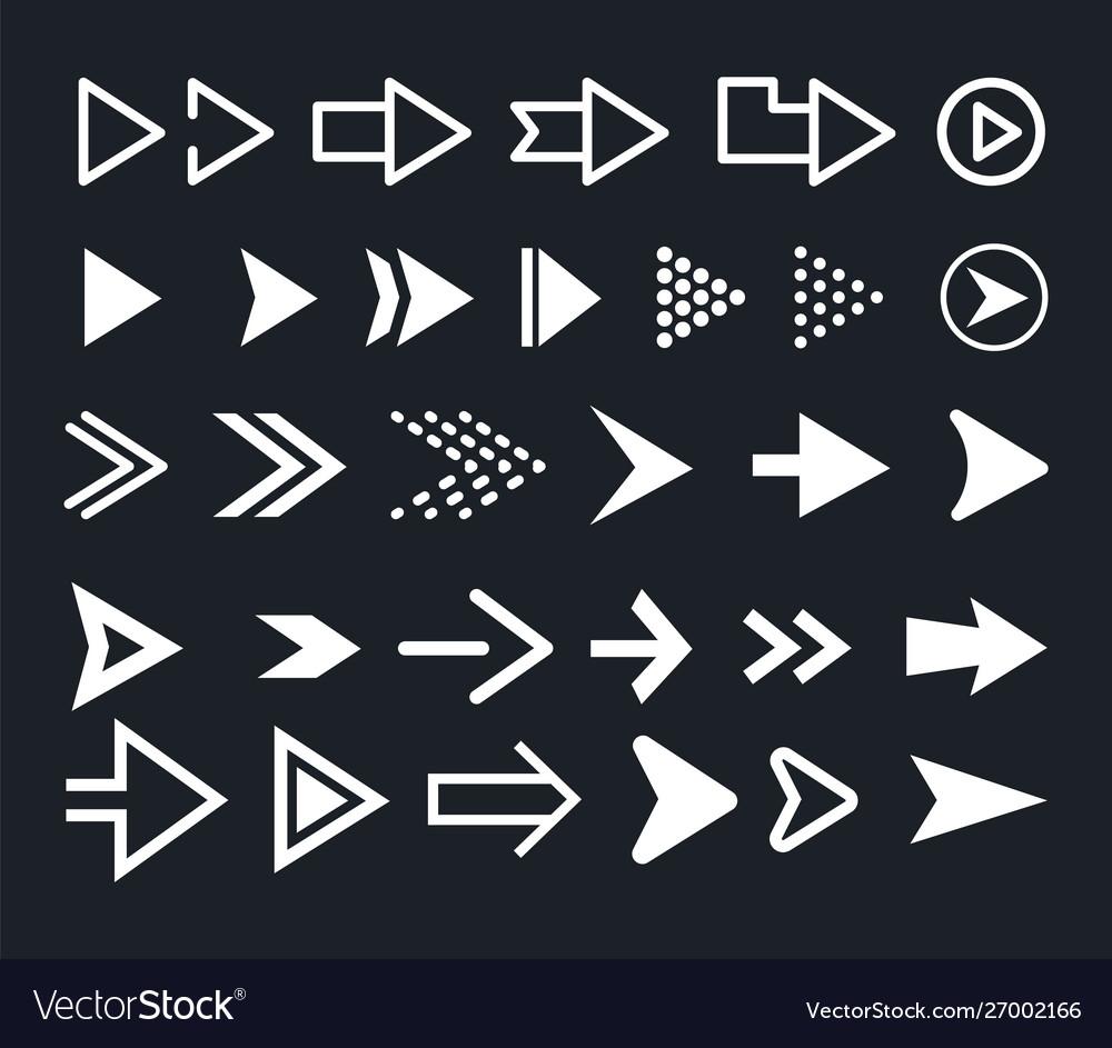 Arrow icon set arrows