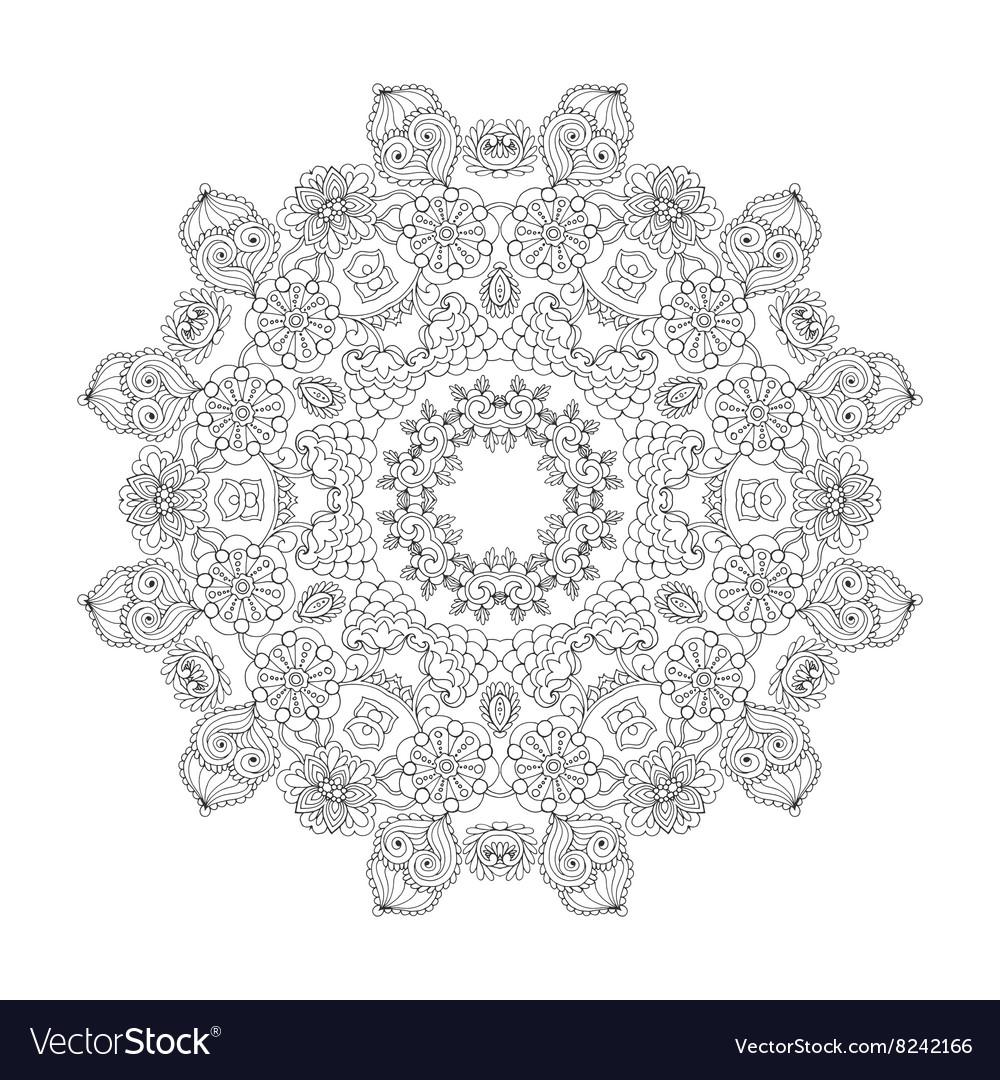 Beautiful floral mandala