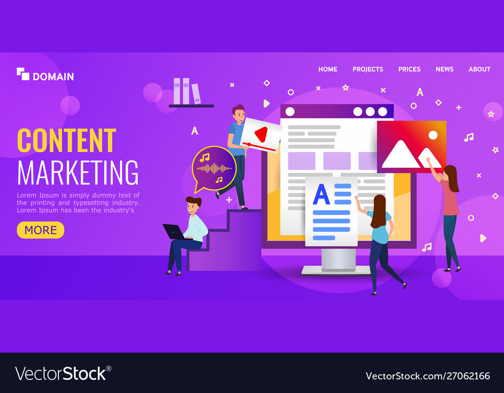Content marketing fot landing page or