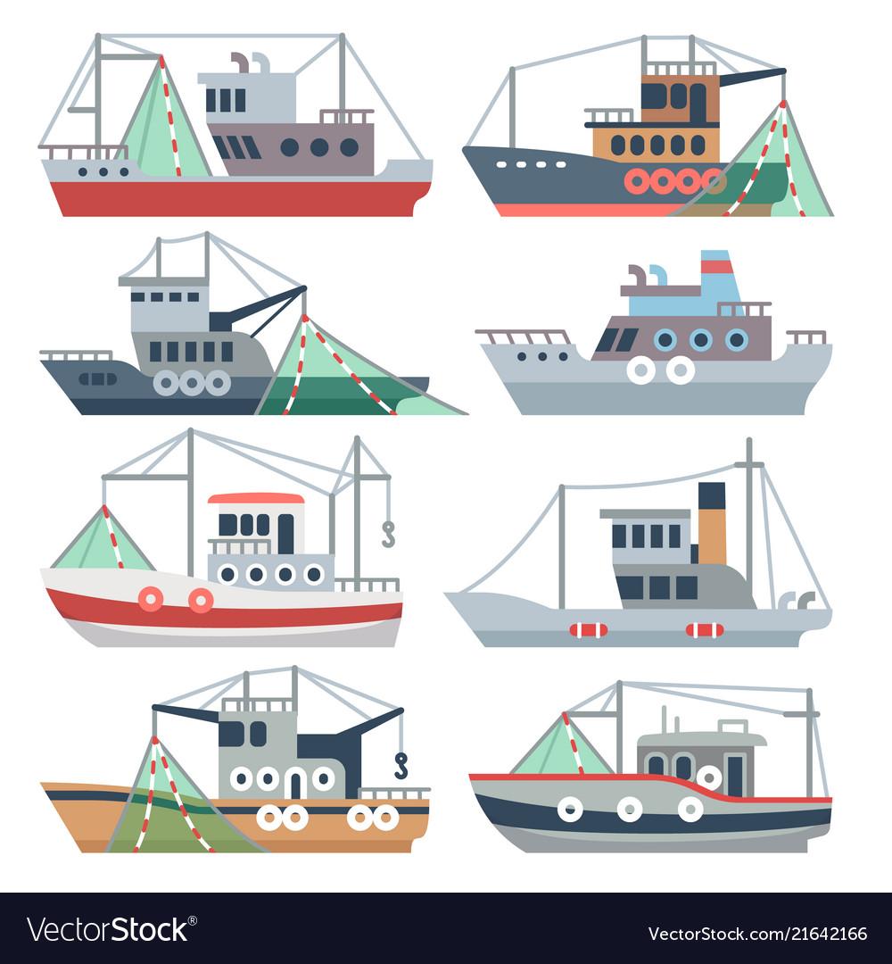 Fishing ocean boats commercial fisherman ships