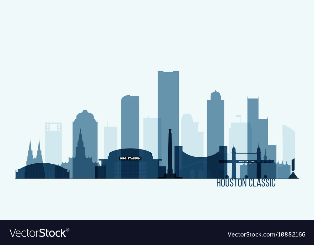 houston skyline buildings royalty free vector image rh vectorstock com victor building concepts victor building concepts