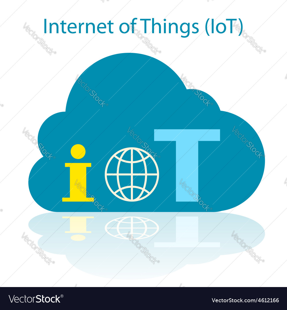 IoT cloud icon vector image