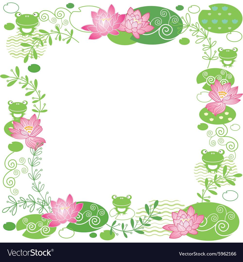 lotus flower card royalty free vector image vectorstock