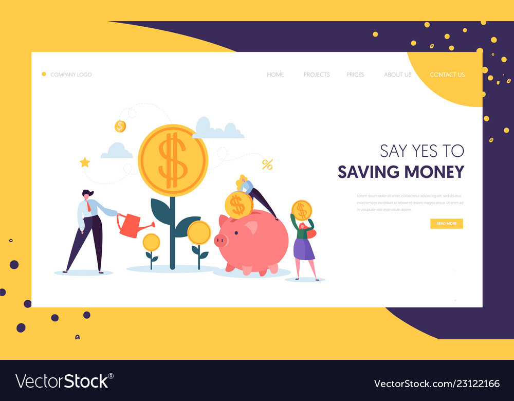 Money profit grow business landing page investment