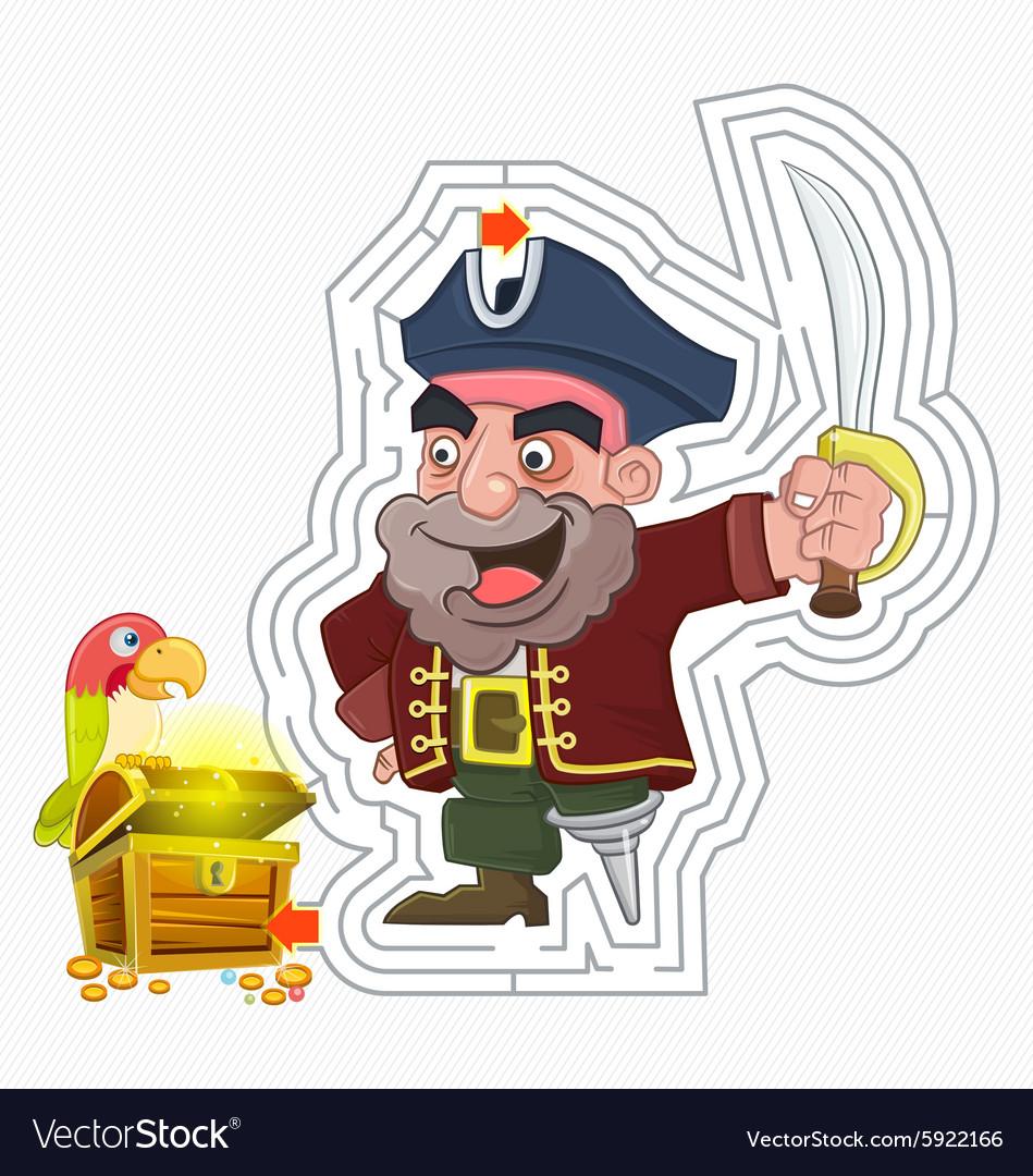 Pirate treasure maze game