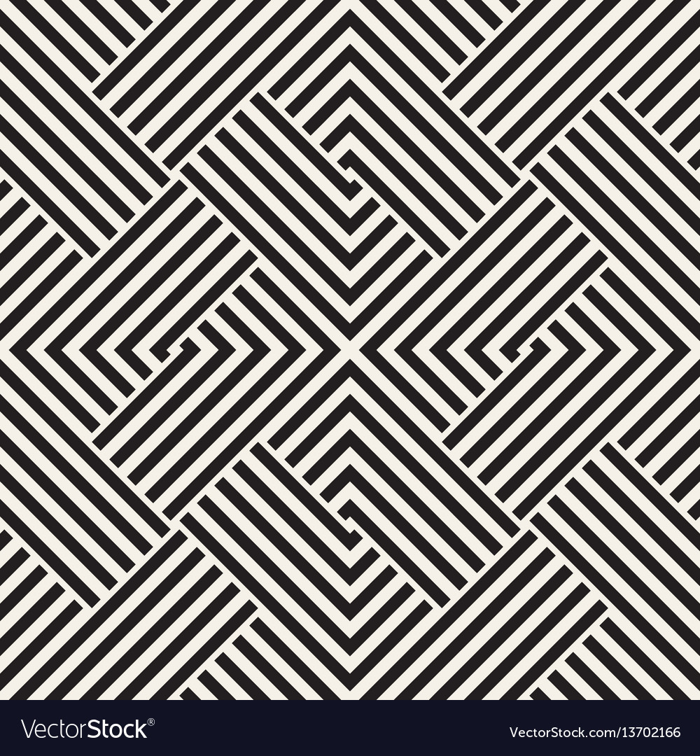 Repeating geometric stripes tiling
