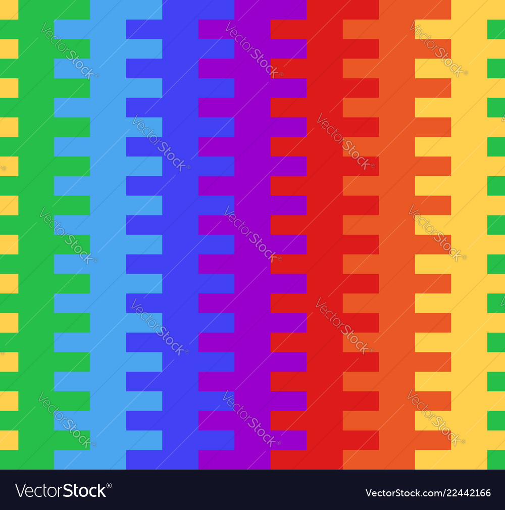 Seamless texture with rainbow basket weaving