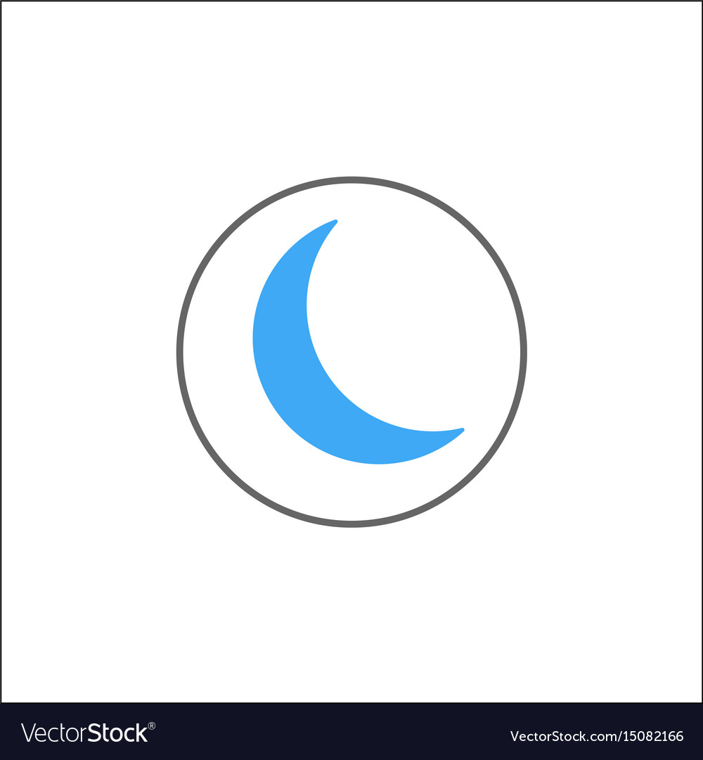 Sleep mode solid icon mobile sign and new moon