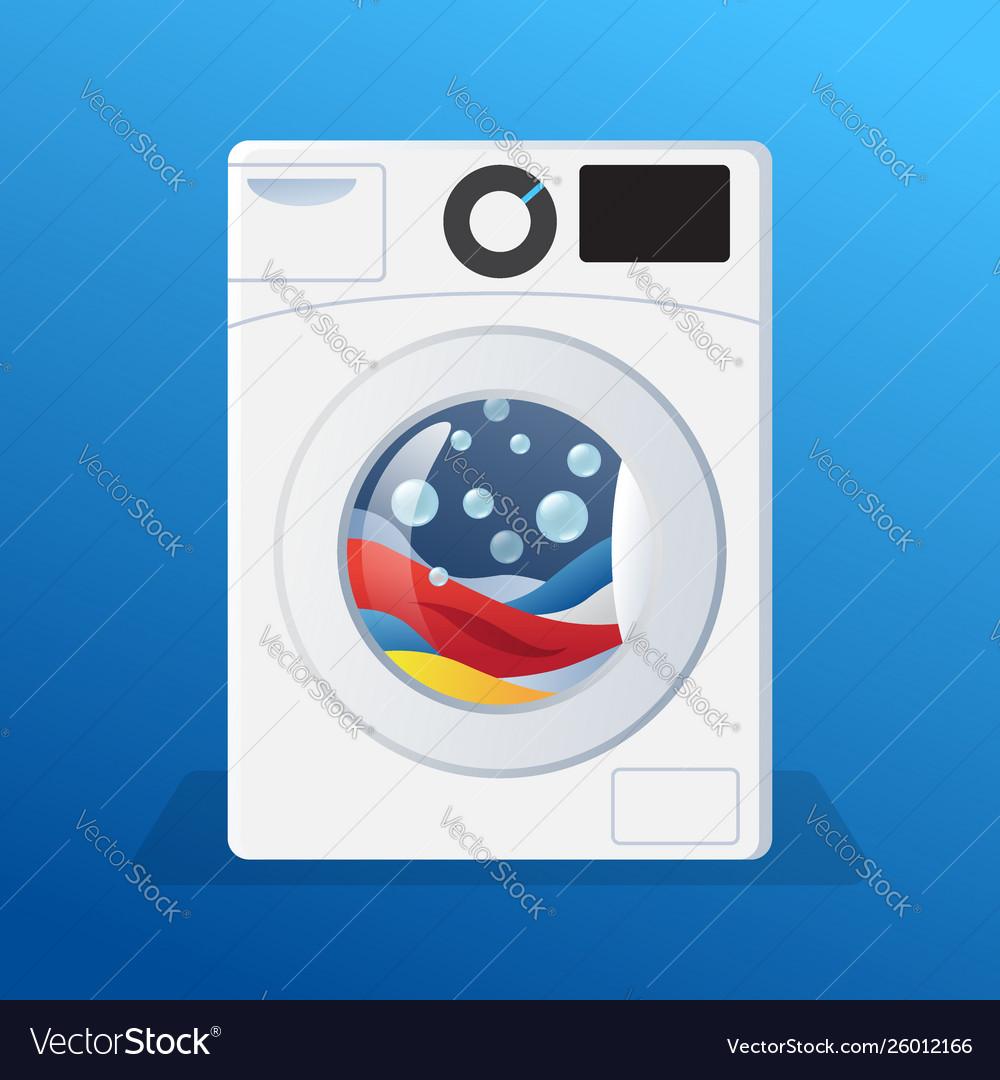 Washing machine sticker washer with clothes