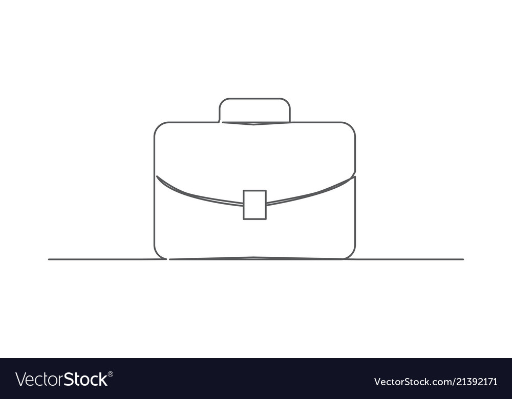 Briefcase one line drawing