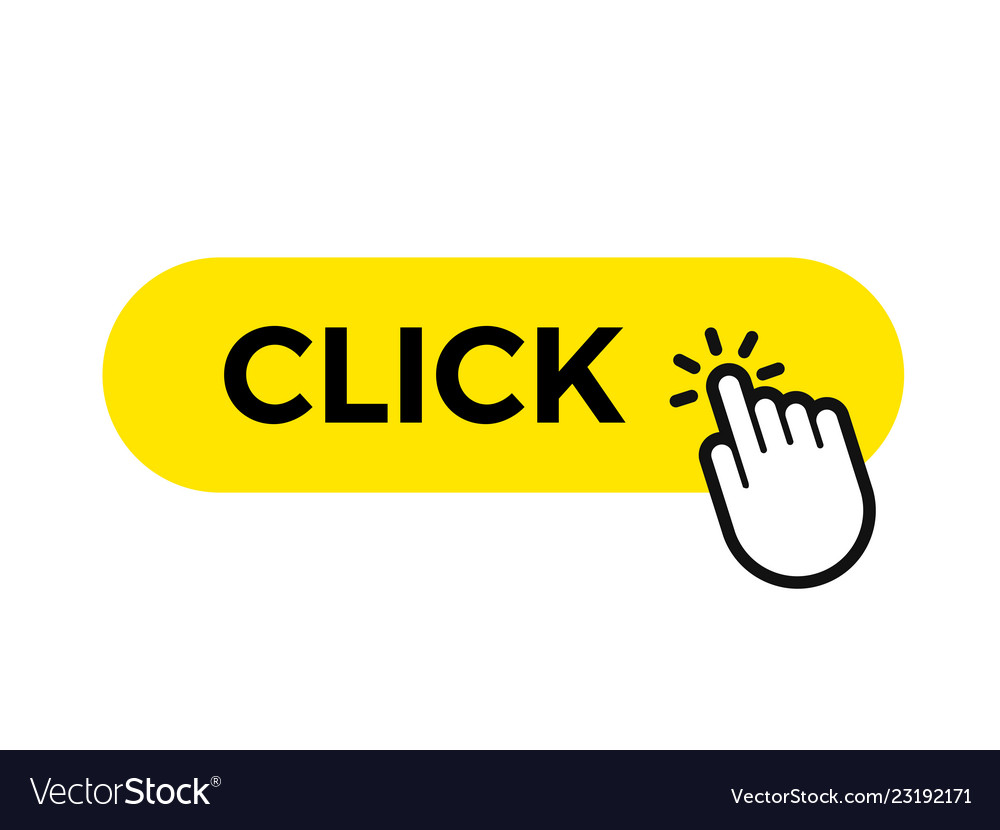 Click bar and finger web button icon template