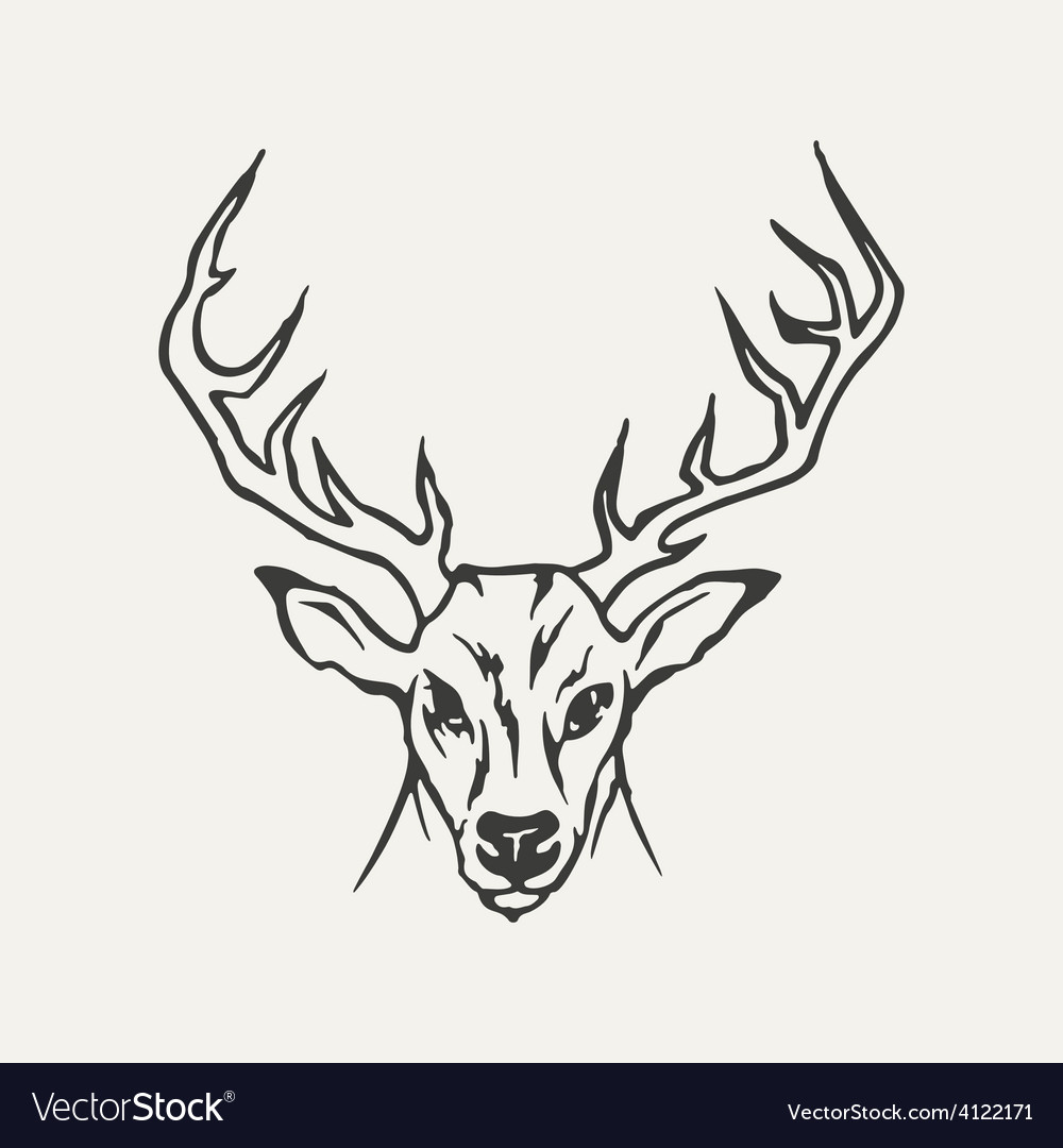 Deer Black and white style