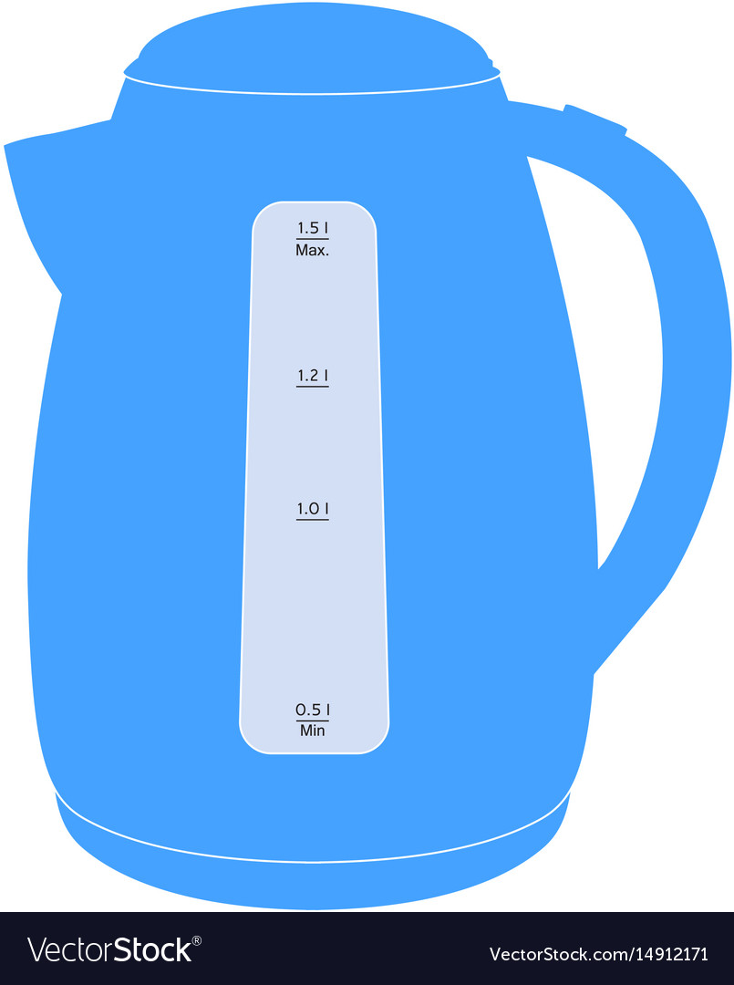 Electric kettle blue icon
