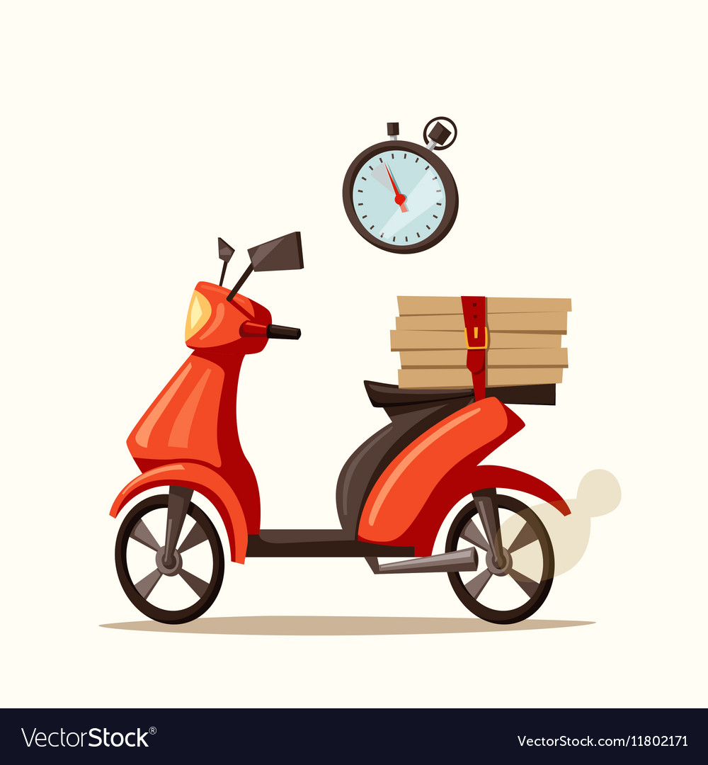 Fast and free delivery cartoon