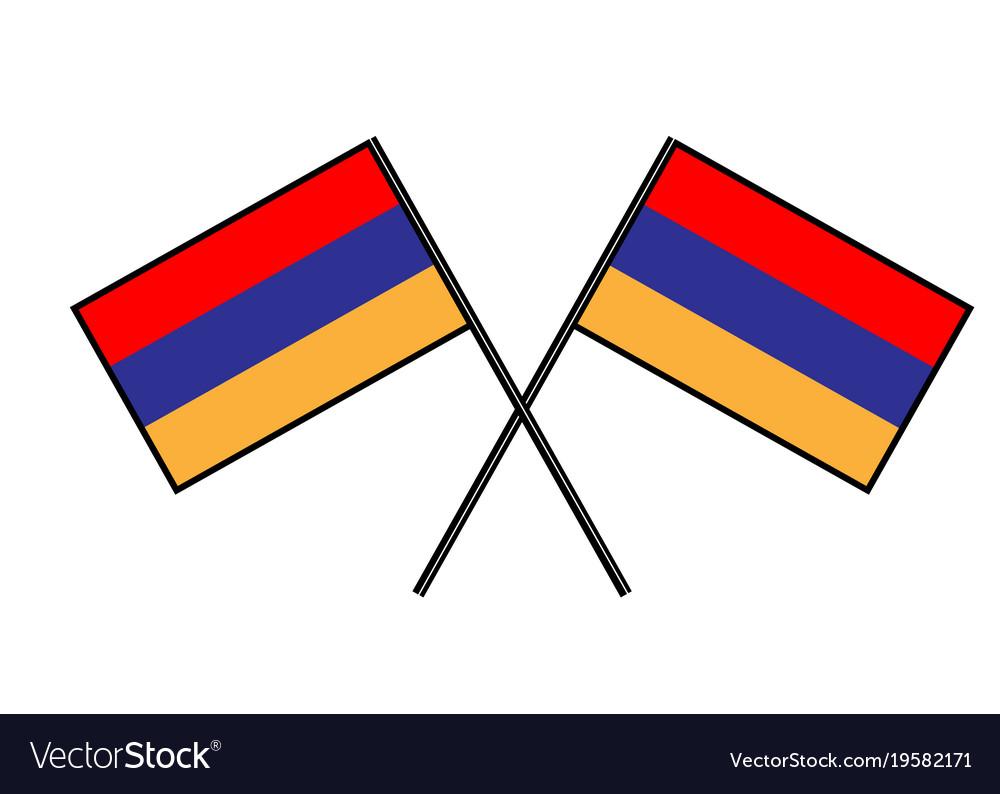 Flag of armenia stylization of national banner
