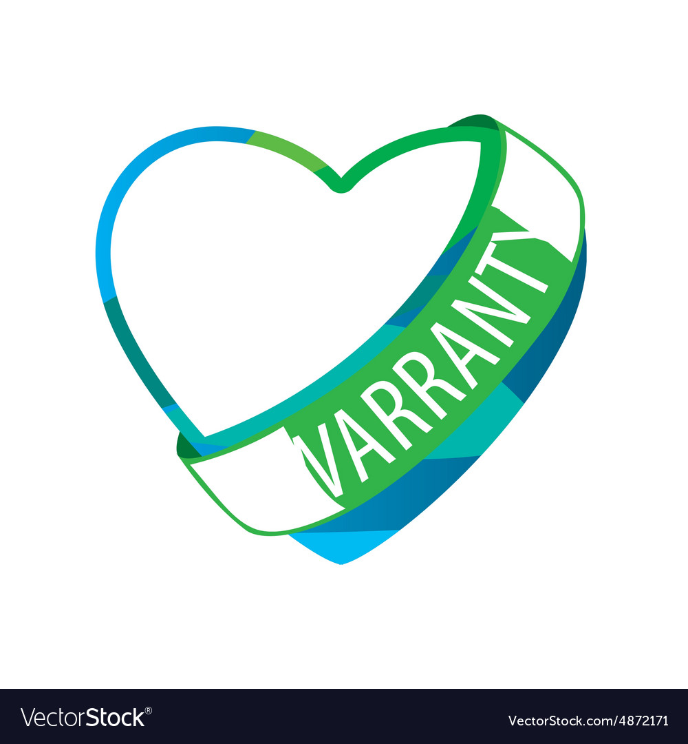 Logo in the form of heart 1 year warranty
