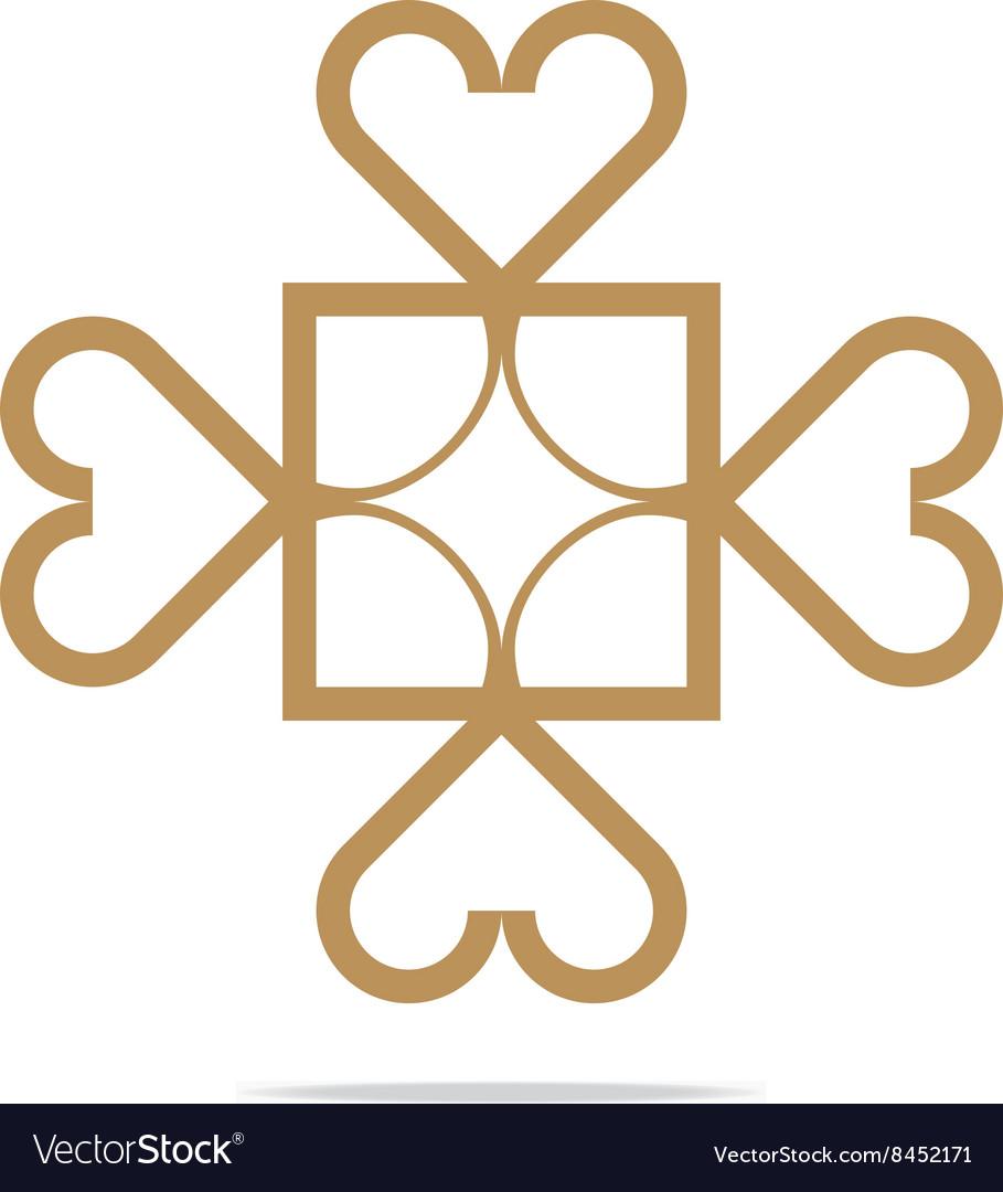 Love symbol icon design