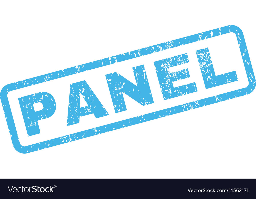 Panel Rubber Stamp vector image