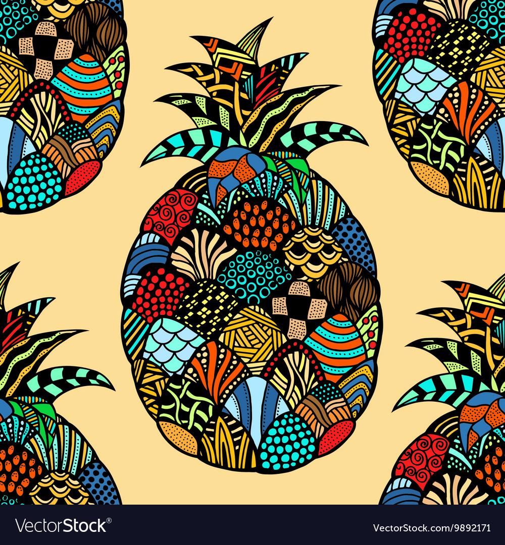 Pineapple Hand drawn