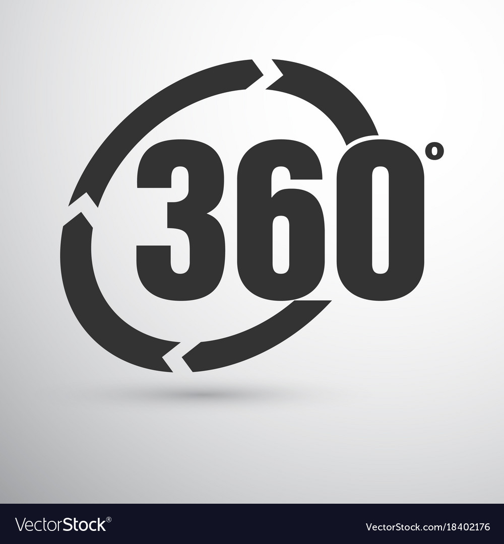 360 Degrees Sign Royalty Free Vector Image Vectorstock