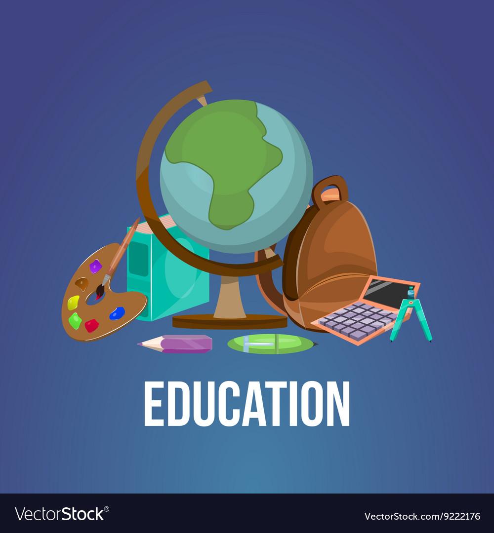 Cartoon education poster