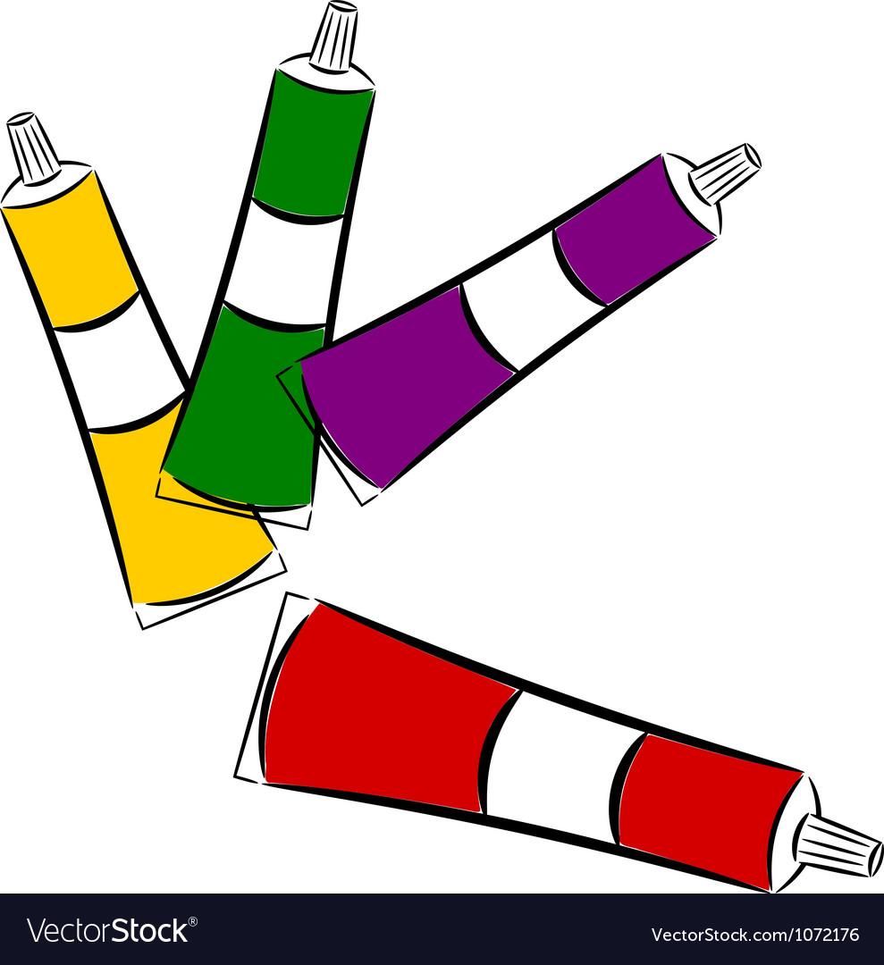 Cartoon tubes of paint eps10