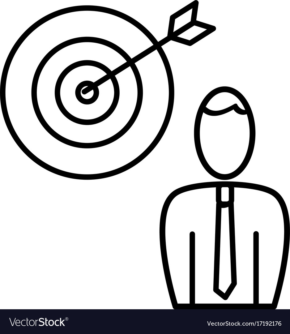 Employee business target icon