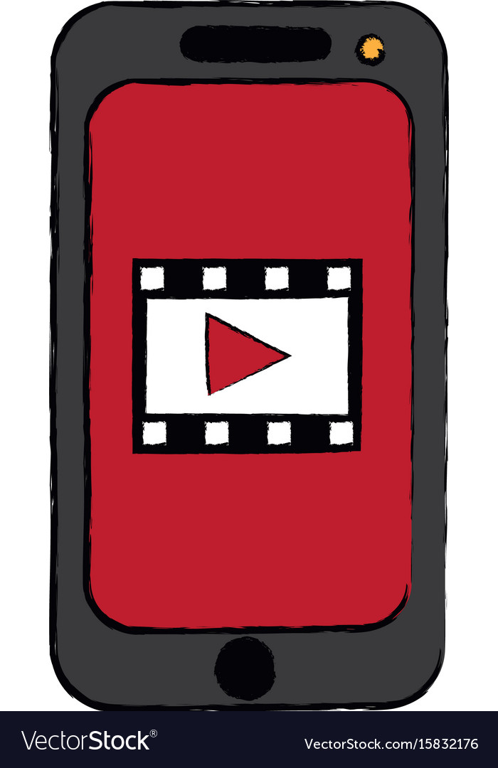 Smartphone video play button app mobile