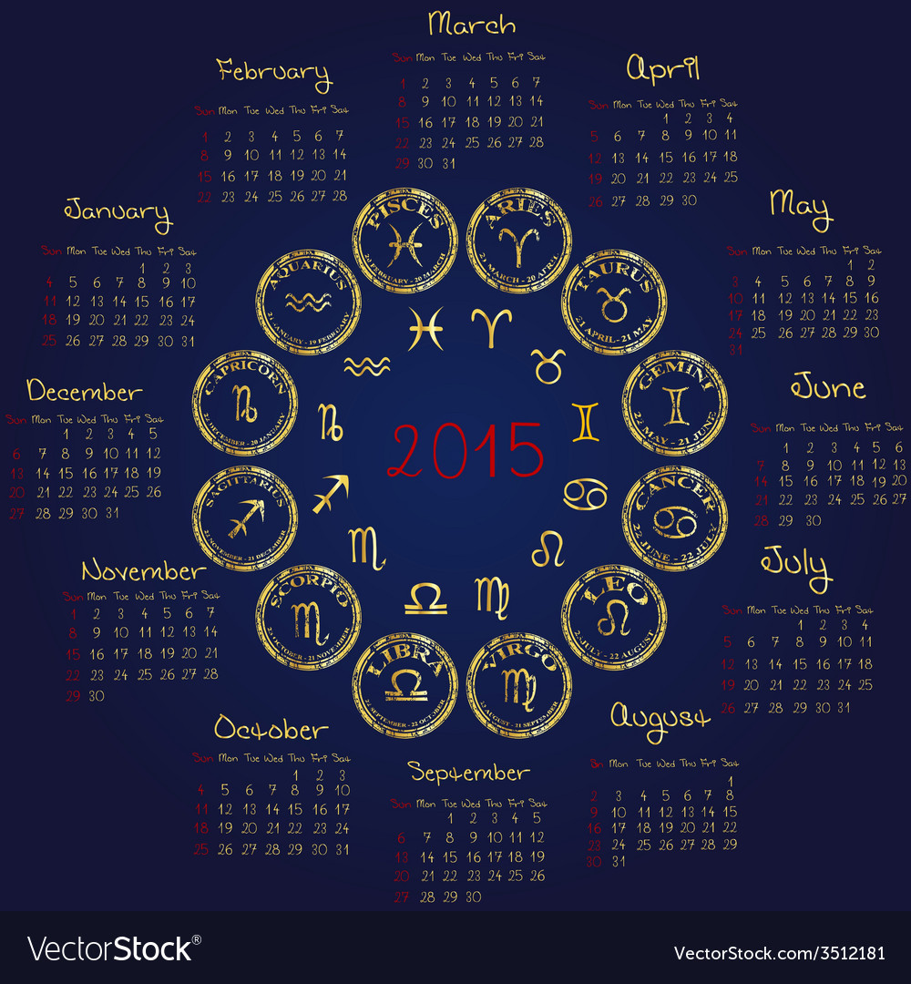 Horoscope Calendar.2015 Horoscope Calendar