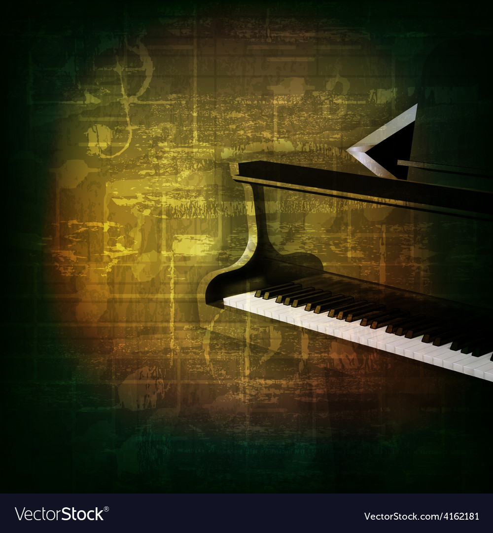 Abstract green grunge music background with grand