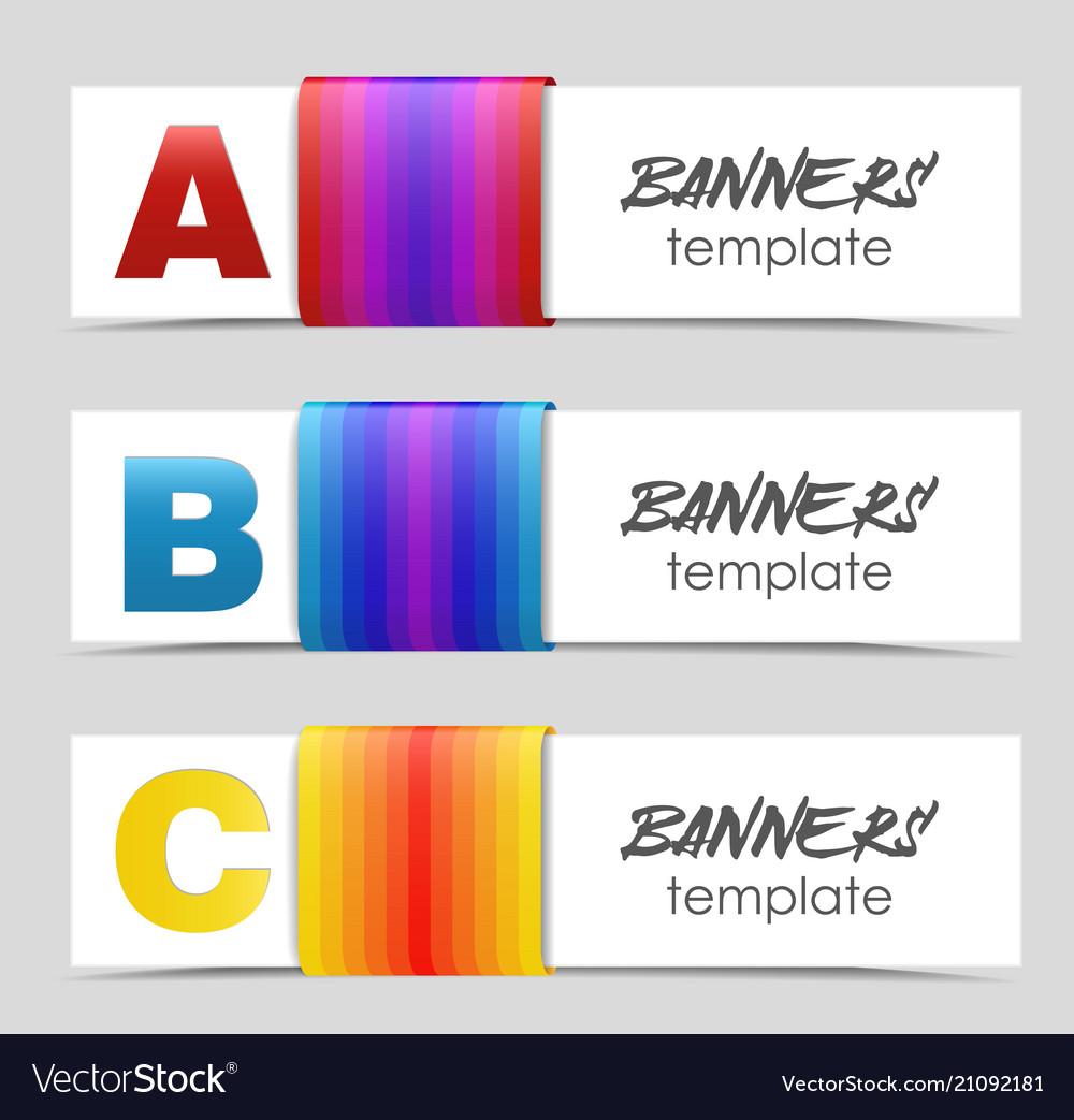 Banners design template