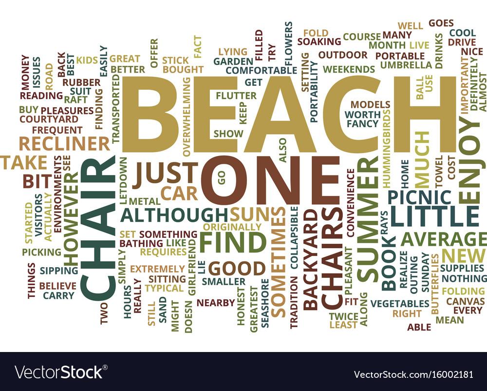 Beach florida inclusive resort text background vector image