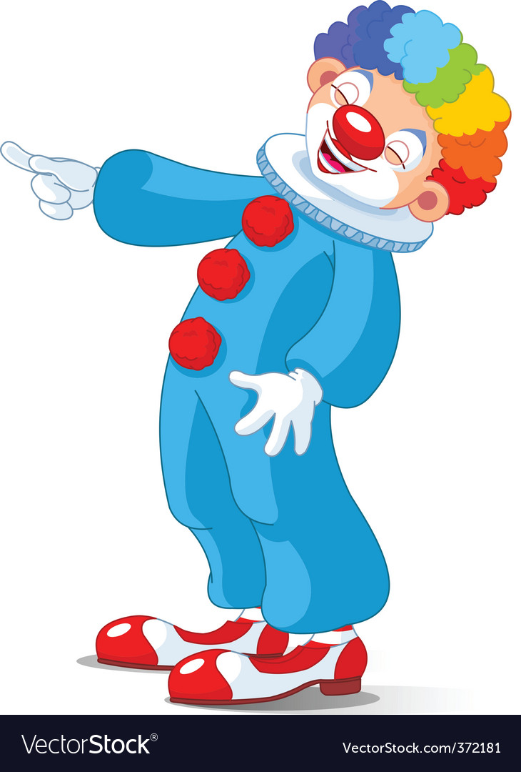 Cute clown laughing vector image