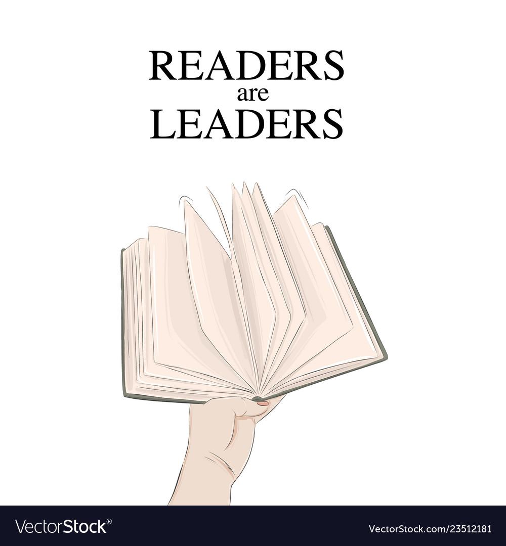 Handing book readers are