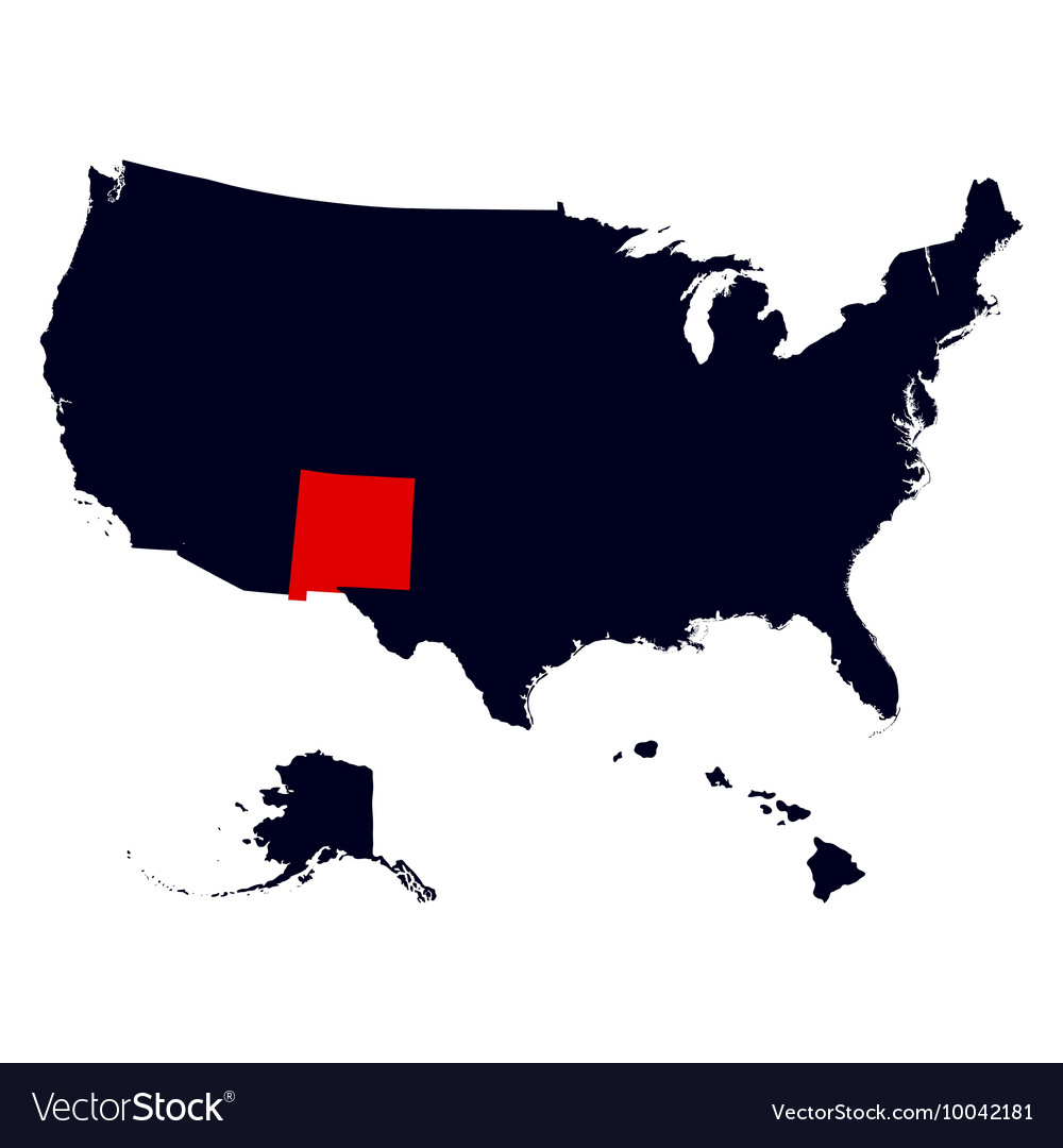 New Mexico State in the United States map Vector Image