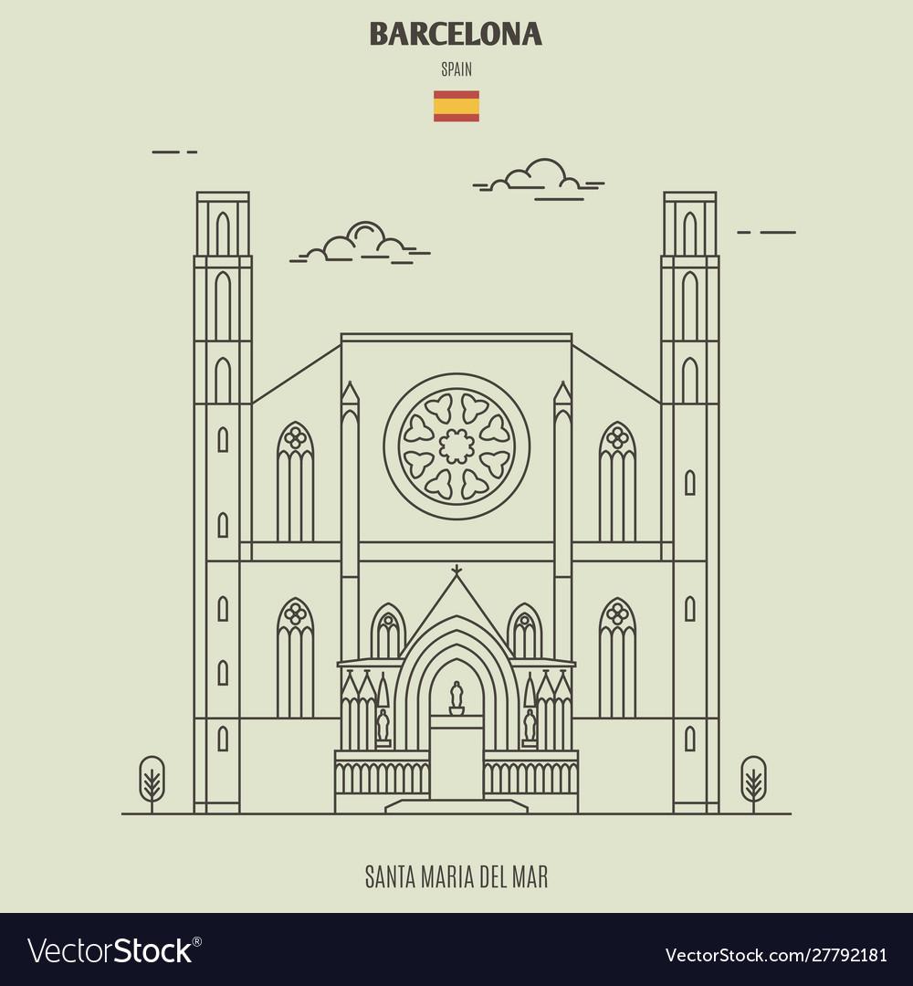 Santa maria del mar in barcelona spain
