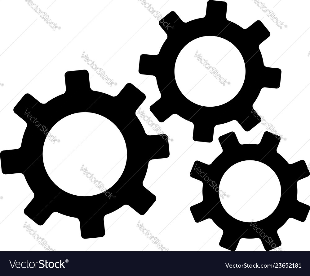 Settings gears or mechanical cogs icon