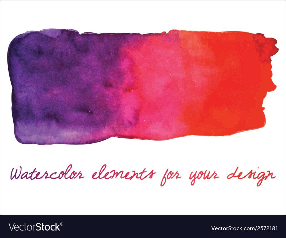 Watercolor gradient stripe Watercolor wet stains