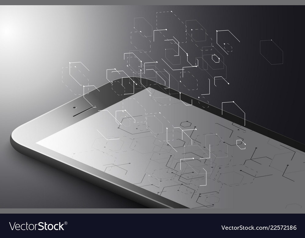 Augmented reality marketing concept black color