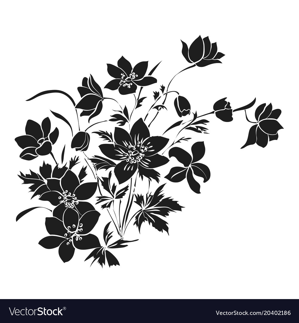 Bouquet Of Spring Flowers On White Background Vector Image