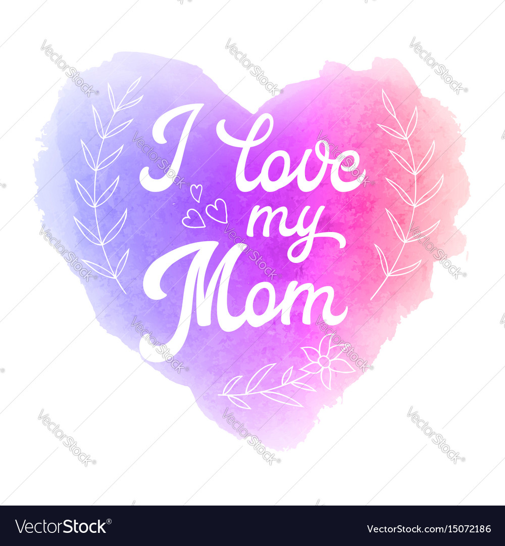 Greeting card with heart on pink and violet vector image