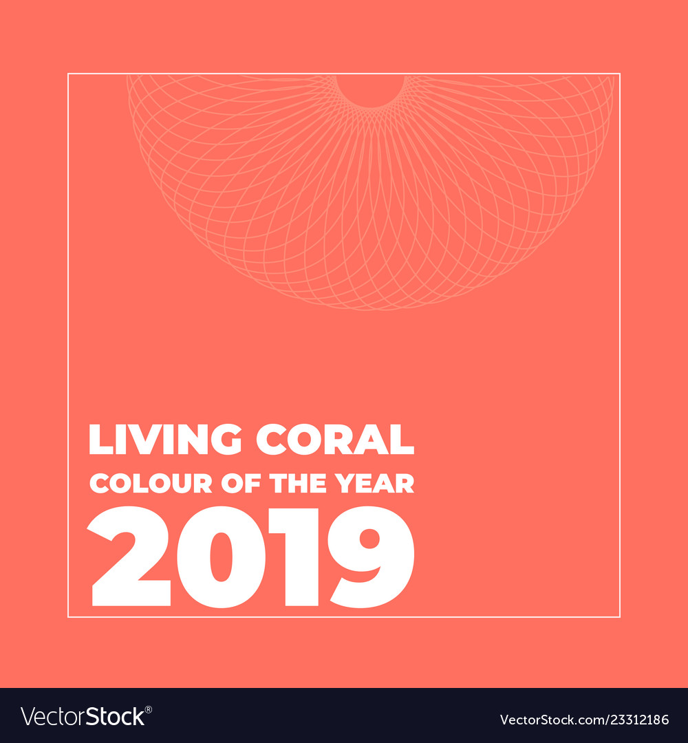 Living Coral Color Of The Royalty Free Vector Image
