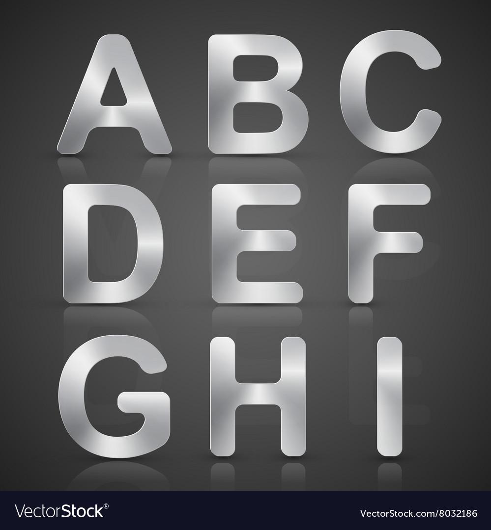 Metallic Silver Alphabet Set