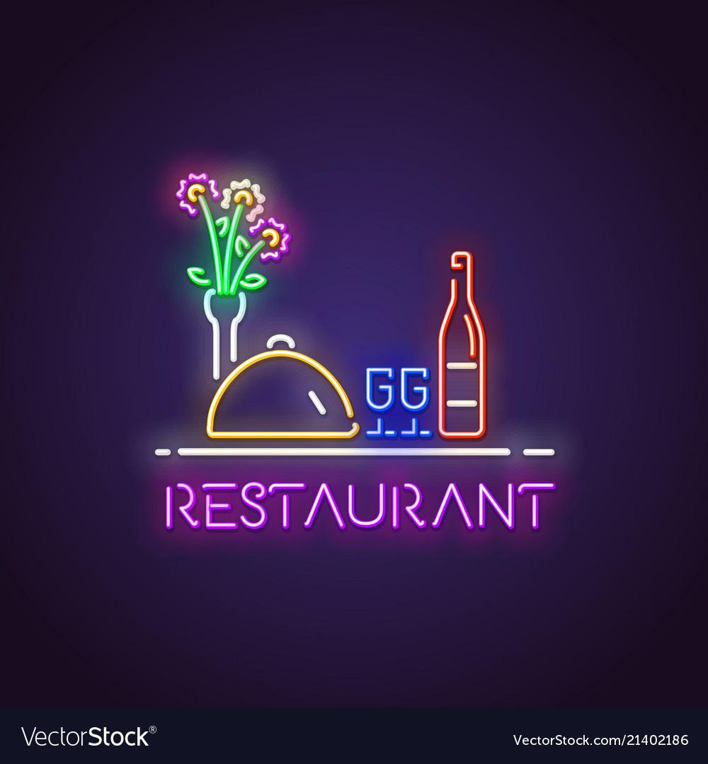 Restaurant neon light