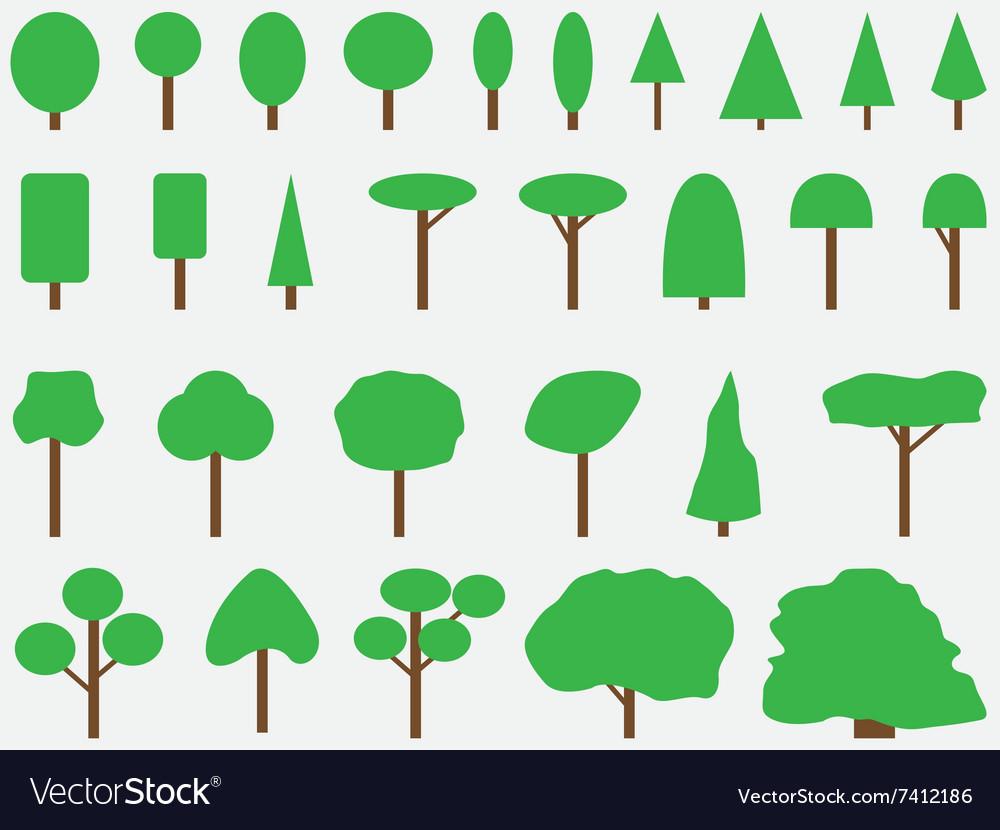 Simple drawn trees