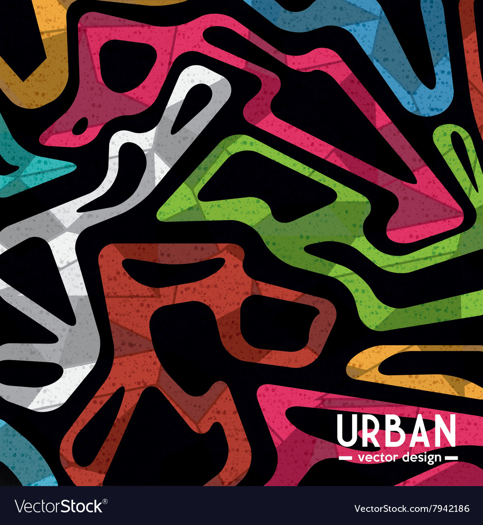 Urban colorful background vector image