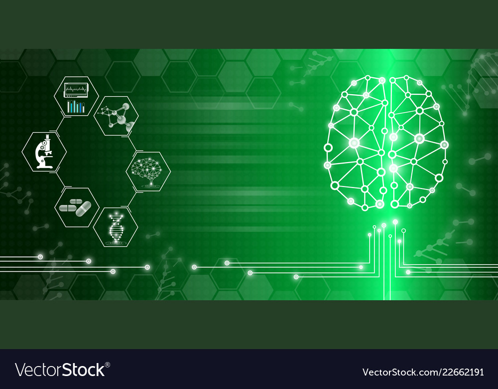 Abstract background technology concept in green