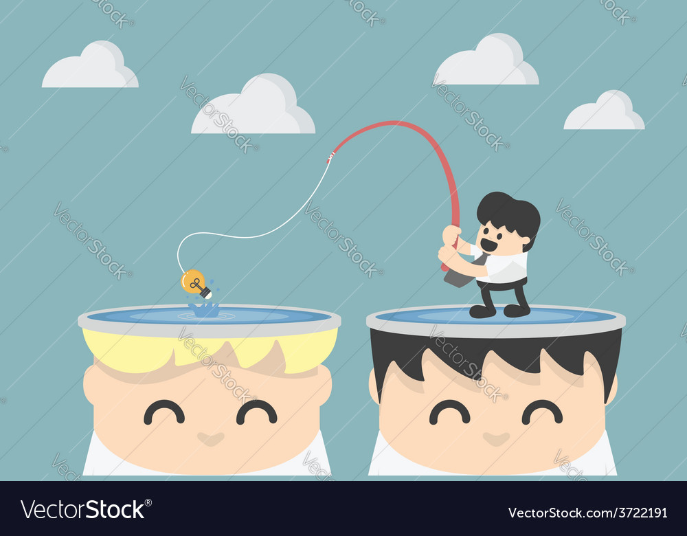 Fishing for idea vector image